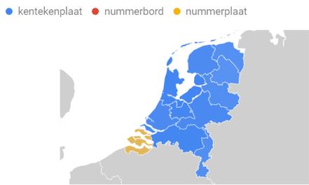 kenteken zoekopdracht Nederland